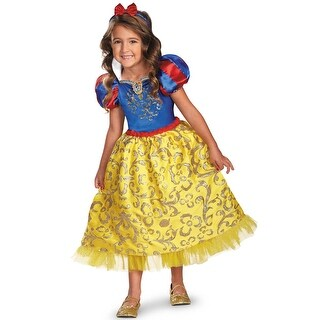 Disguise Disney Princess Snow White Sparkle Deluxe Child Costume - Yellow/Blue - medium (7-8)