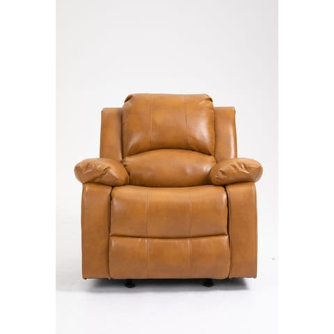 Faux Leather 8-Point Massage Recliner