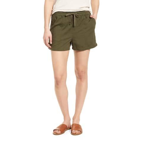 Caslon Olive Womens Small Drawstring Four Pocket Shorts