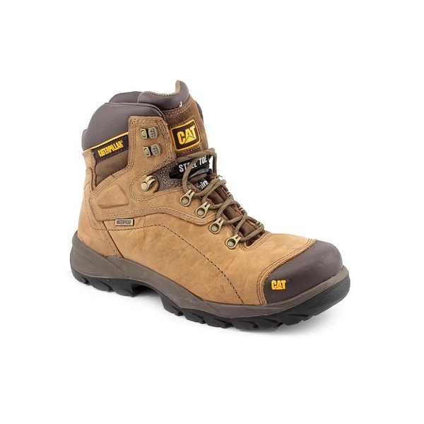 Caterpillar Diagnostic HI ST Men Steel Toe Leather Tan Work Boot