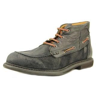 3:10 Flotter Women Round Toe Leather Black Boot