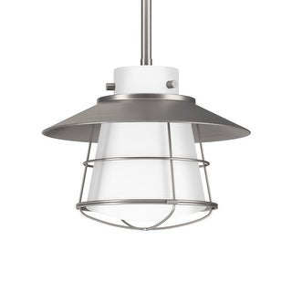"Park Harbor PHPL5531 10"" Wide Single Light Single Mini Pendant with Industrial Style Shade and Glass Guard"
