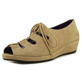 Vaneli Disko W Open Toe Leather Wedge Heel