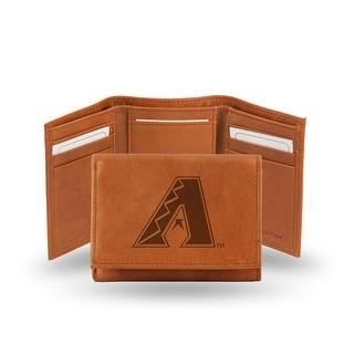 4 Brown MLB Arizona Diamondbacks Embossed Trifold Wallet N A