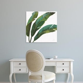Easy Art Prints Janelle Penner's 'Welcome to Paradise XI on White' Premium Canvas Art