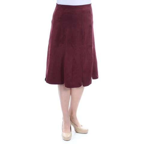 Womens Maroon Wear To Work Skirt Size 10