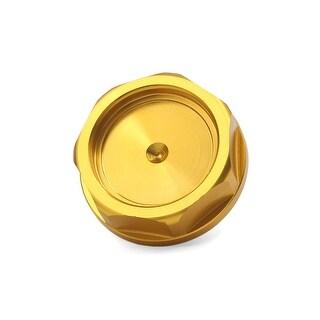 Unique Bargains 32mm Thread Dia Aluminum Alloy Car Engine Gas Tank Cap Fuel Cover Gold Tone