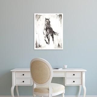 Easy Art Prints Ethan Harper's 'Rustic Black Stallion II' Premium Canvas Art