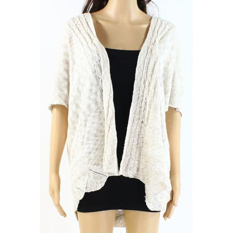 Style & Co Womens Sweater Beige Size Large L Knitted Kimono Cardigan