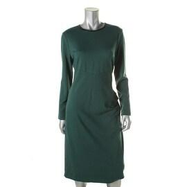 Anne Klein Womens Ponte Gathered Wear to Work Dress
