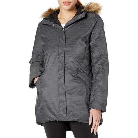 Helly Hansen Womens Jacket Charcoal Gray Size Medium M Full-Zip Parka