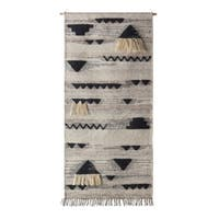 """60"""" x 30"""" Contemporary Hand Woven Multi-Color Wool Hanging Wall Tapestry"""