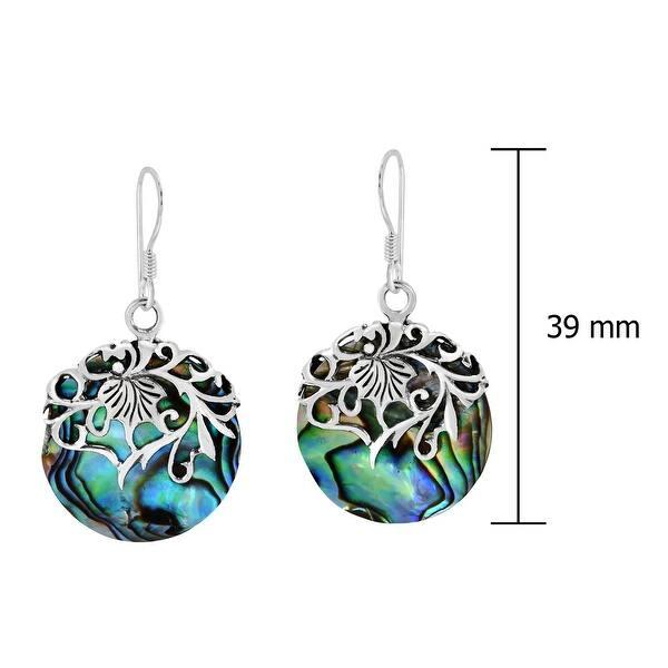 Sterling Silver Earrings Sterling Silver Pierced Vine Medallion Earrings Handmade Earrings Vine Earrings