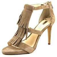 INC International Concepts Sayge Women  Open Toe Suede Gray Sandals
