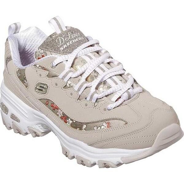 3a6408dbdffa0 Shop Skechers Women s D Lites Floral Days Sneaker Taupe - Free ...