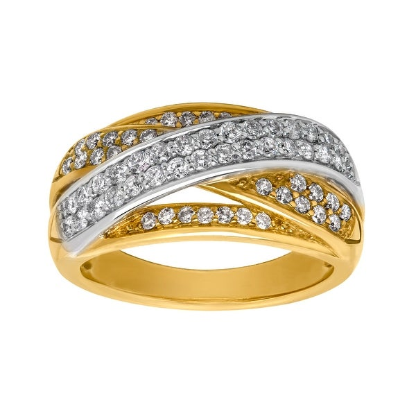 3/4 ct Diamond Banded Ring in 14K Gold