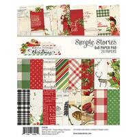 "Simple Stories Double-Sided Paper Pad 6""X8"" 24/Pkg-Simple Vintage Christmas, 8 Designs/3 Ea"