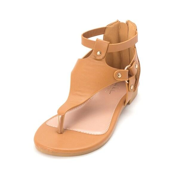 55c2870ec Kids Nicole Miller Girls Jillian Zipper T-Strap Gladiator Sandals - 3.0  Youth Girls