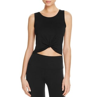Onzie Womens Crop Top Knot-Front Sleeveless - o/s