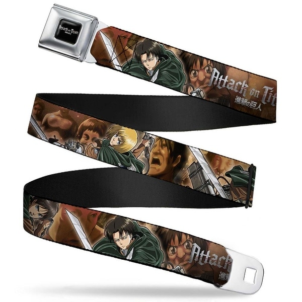 Attack On Titan Logo Full Color Black White Red Attack On Titan 4 Character Seatbelt Belt