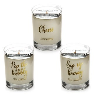 Fruity Peach Belini Scented Jar Candle, Soy Wax (Set of 3)