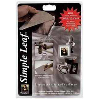 "Silver - Mona Lisa Simple Leaf Metal Sheets 5.5""X5.5"" 18/Pkg"