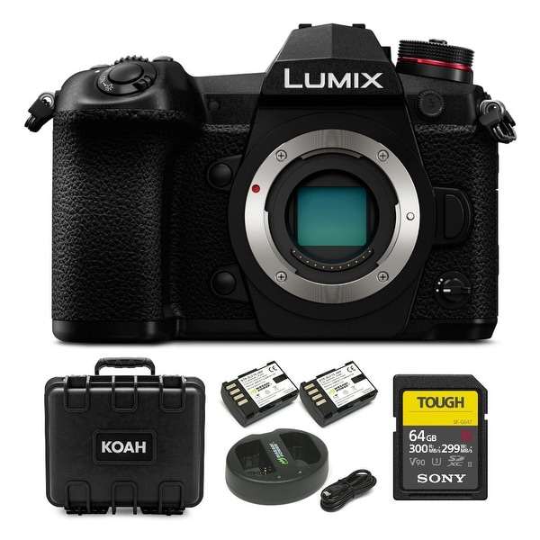 Panasonic Lumix G9 Mirrorless Micro Camera Body and Accessory Kit. Opens flyout.