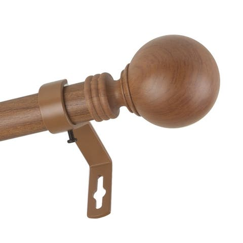 InStyleDesign Pellet 1 inch Faux Wood Curtain Rod