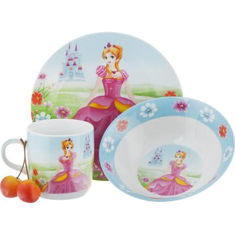 STP Goods Enchantress Kid's Dinnerware Ceramic Set of 3