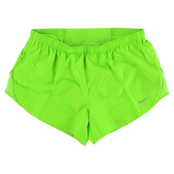 6fc56587df0 Nike Womens Dri Fit Modern Tempo Embossed Running Shorts Bright Green -  Bright Green - M
