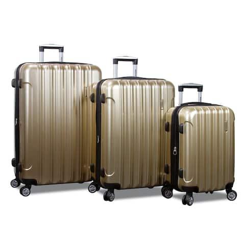 Jumbo Hardside 3-Piece Spinner Luggage Set With TSA Lock