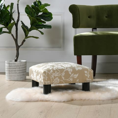 The Curated Nomad Stardust Square Accent Footstool Ottoman