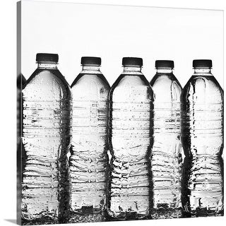 """Water bottles in studio"" Canvas Wall Art"