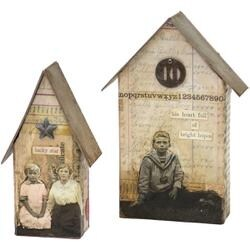 "Tiny Houses 1"" To 5"" - Sizzix Bigz Large Die By Tim Holtz 6""X8.75"""