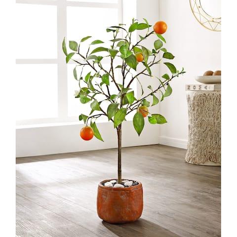 "SAFAVIEH Faux Orange Potted Tree - 19.7"" W x 15.4"" L x 33.1"" H"
