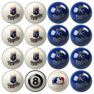 MLB Kansas City Royals Baseball Billiard Balls Complete Set of 16 Balls
