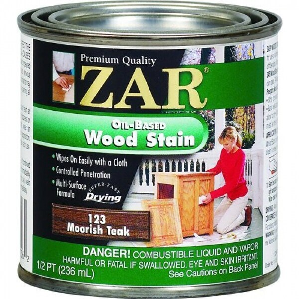 ZAR 12306 Interior Oil-Based Wood Stain, Moorish Teak, 1/2 Pint