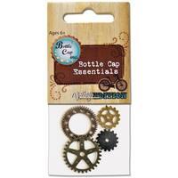 Bottle Cap Inc Vintage Gears 4/Pkg-
