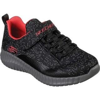 Skechers Boys' Elite Flex Over Surge Sneaker Black/Gray