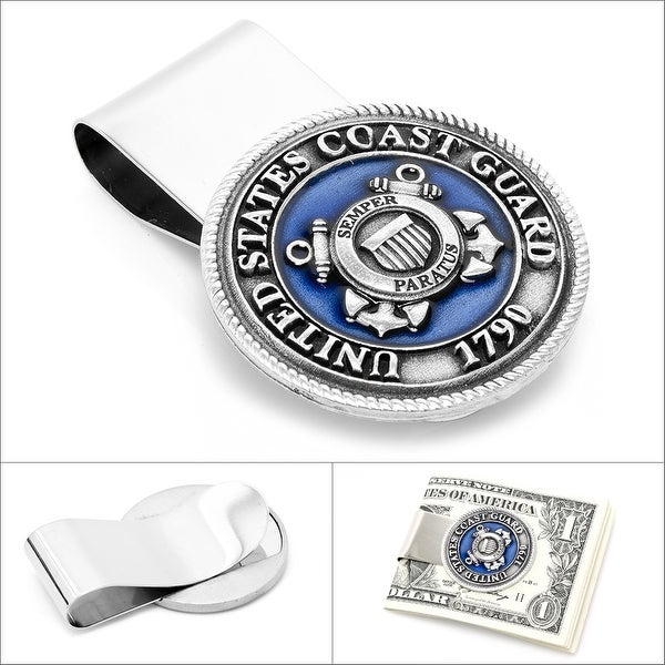 Pewter U.S. Coast Guard Money Clip