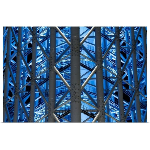 """Metalwork - Tokyo Sky Tree"" Poster Print"