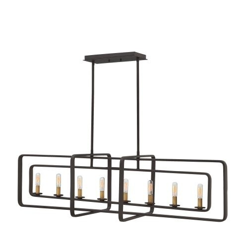 Hinkley Lighting 4818 8 Light Large Linear Single Pendant from the Quentin Collection