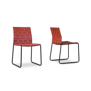 Fairfield Red Woven Dining Chair - 2 Chairs