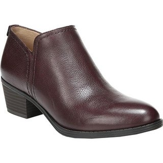 Naturalizer Women's Zarie Bootie Aubergine Tumbled Leather