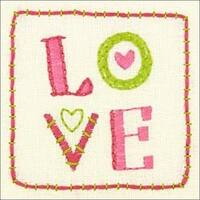 "8""X8"" Stitched In Thread - Cathy Heck Love Embroidery Kit"