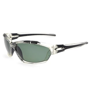 Eyekepper Polycarbonate Polarized Sport Sunglasses Running Fishing Driving TR90 Unbreakable Clear Frame G15