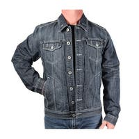 Five Elementz Men's Denim Trucker Jacket
