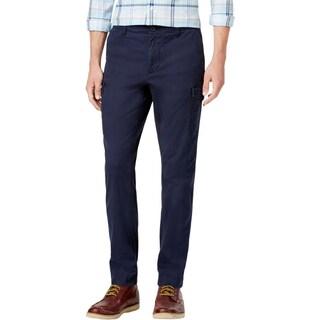 Tommy Hilfiger Mens Cargo Pants Slim Fit Flap Pockets