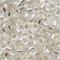 Miyuki Delica Seed Beads 10/0 'Silver Lined Crystal' DBM0041 8 GR