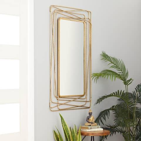 Gold Metal Contemporary Wall Mirror 47 x 31 x 1 - 31 x 1 x 47